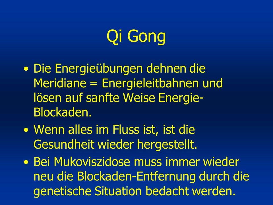 Die Energieübungen dehnen die Meridiane = Energieleitbahnen und lösen auf sanfte Weise Energie- Blockaden. Wenn alles im Fluss ist, ist die Gesundheit