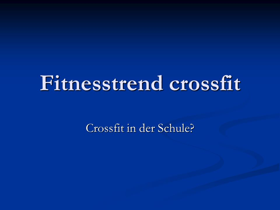 Kritik an crossfit