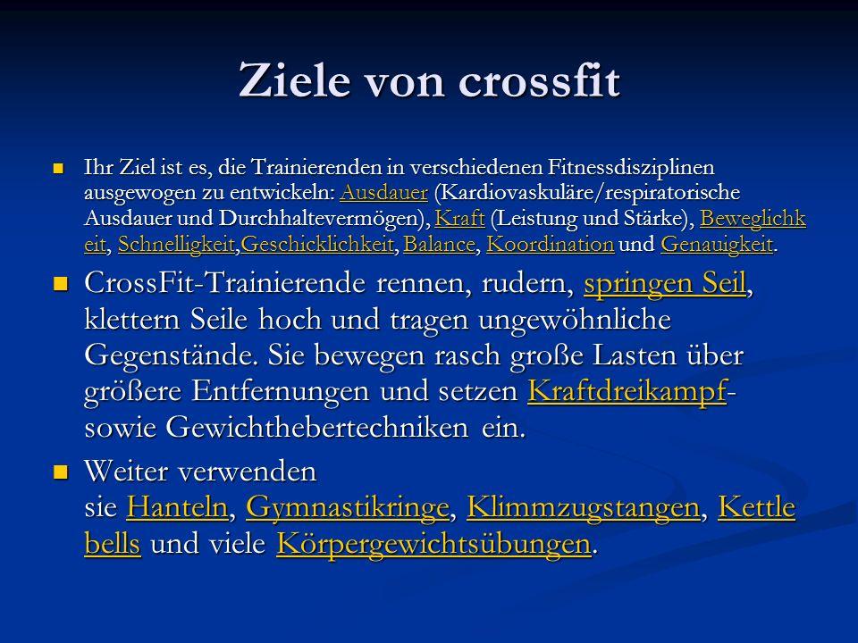 Trainingsablauf von crossfit