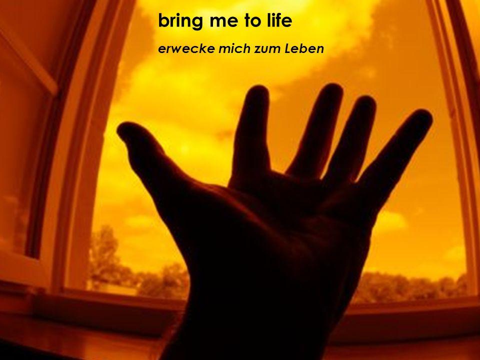erwecke mich zum Leben bring me to life