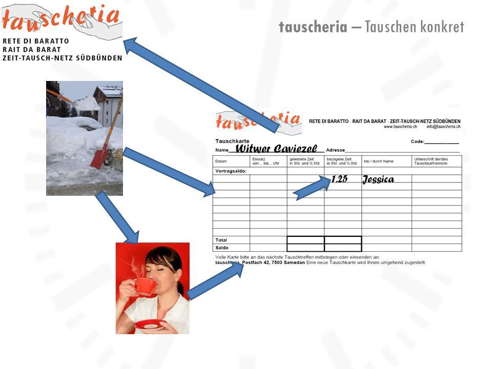 tauscheria – Tauschen konkret Witwer Caviezel Jessica1.25