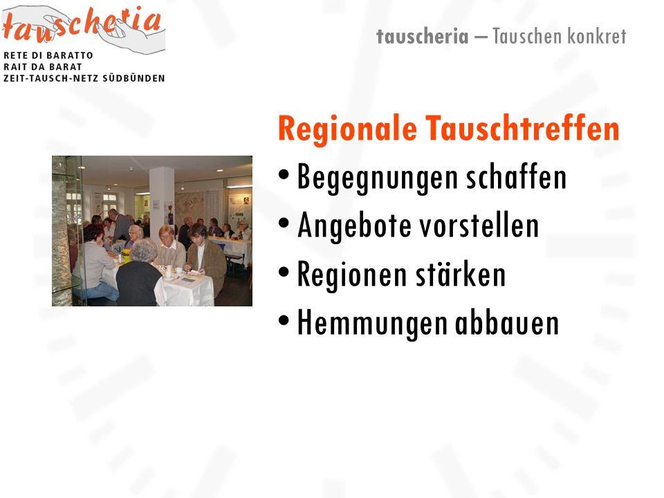 tauscheria – Tauschen konkret Regionale Tauschtreffen Begegnungen schaffen Angebote vorstellen Regionen stärken Hemmungen abbauen