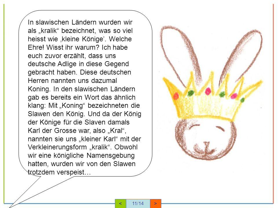 In slawischen Ländern wurden wir als kralik bezeichnet, was so viel heisst wie kleine Könige.