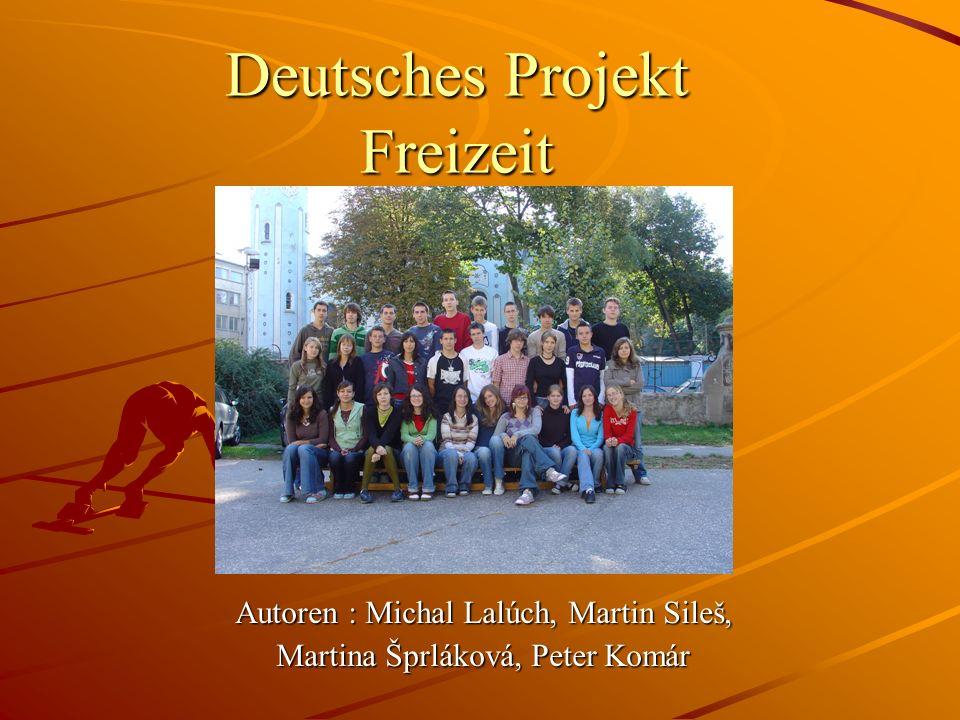 Deutsches Projekt Freizeit Autoren : Michal Lalúch, Martin Sileš, Martina Šprláková, Peter Komár