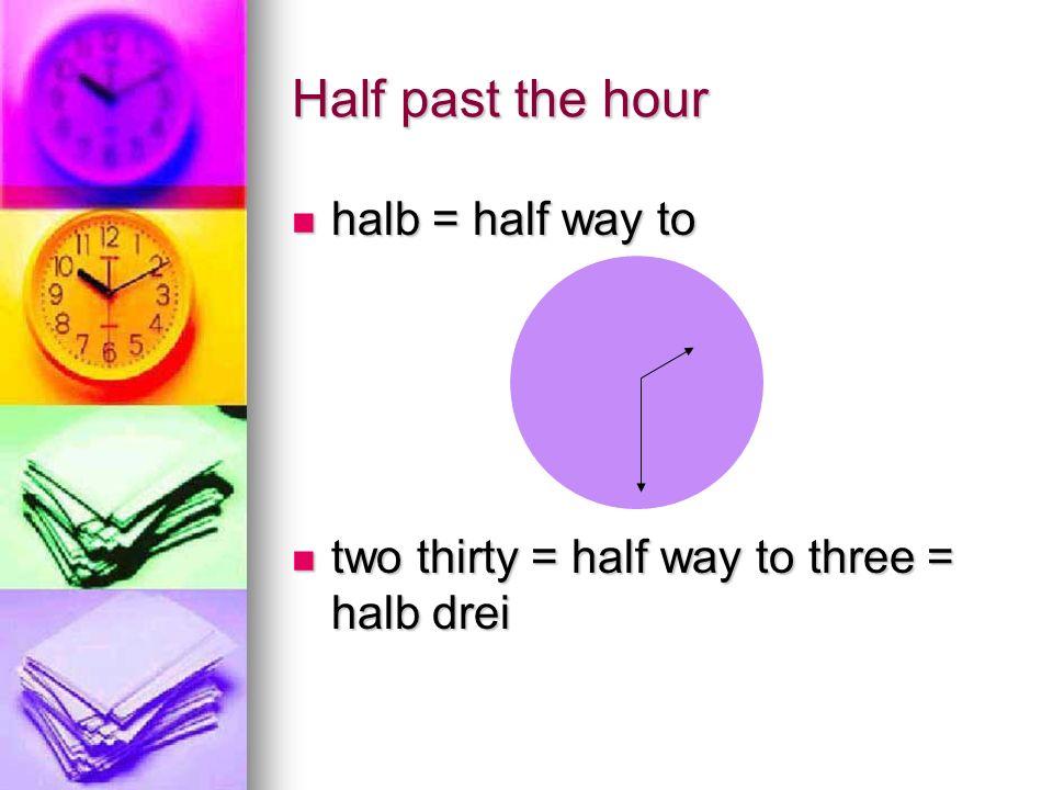 Quarter to___________ Viertel vor sechs Viertel vor sechs
