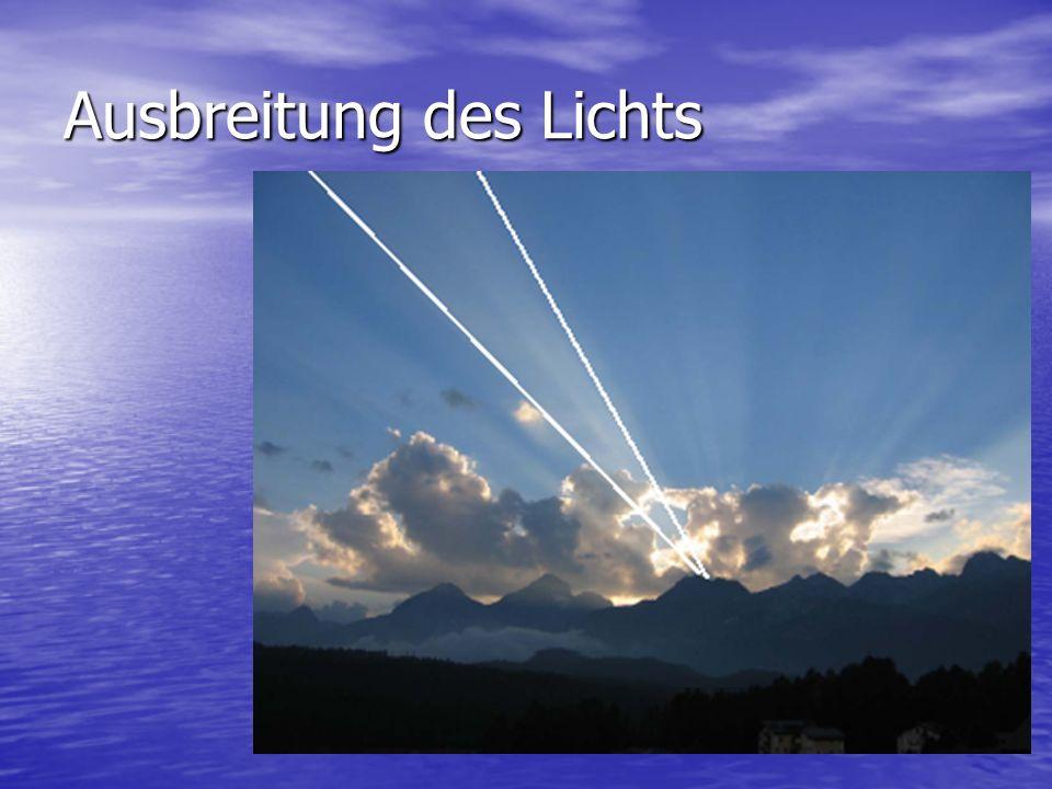 Ausbreitung des Lichts