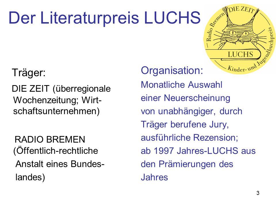 14 Fälle und Konflikte Mehrfachprämierung Drvenkar, Zoran: LUCHS 162.