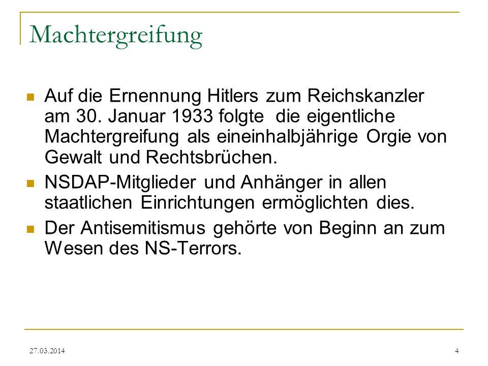 27.03.20145 Boykott jüdischer Geschäfte 1. April 1933