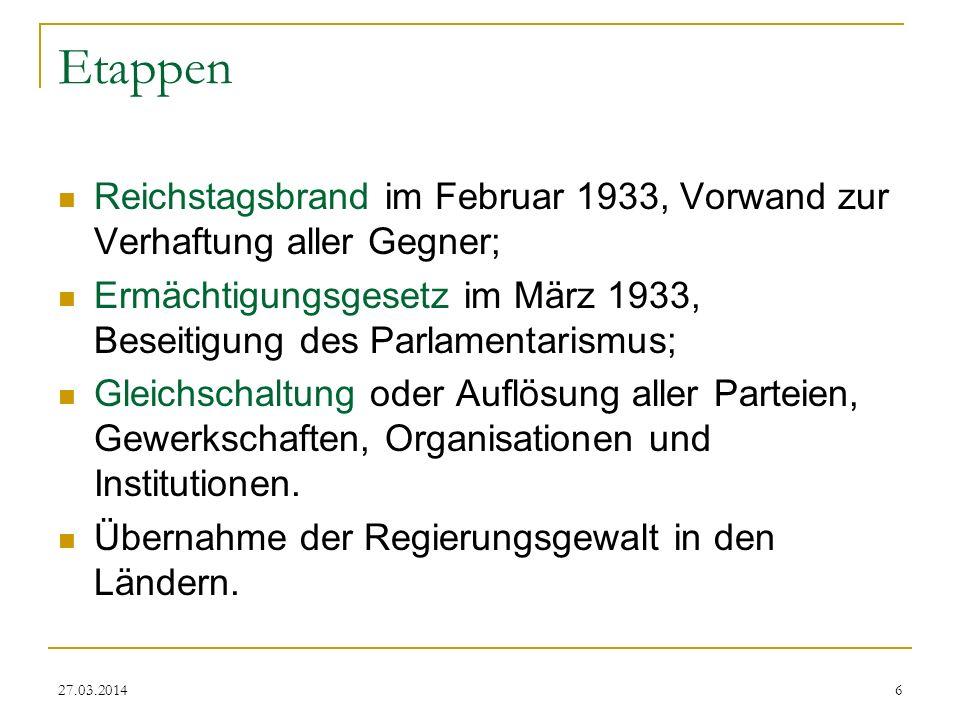 27.03.20147 Nach dem Reichstagsbrand