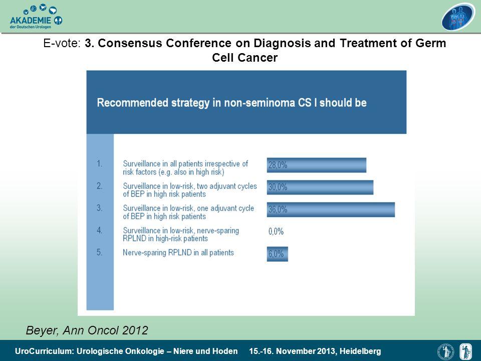 UroCurriculum: Urologische Onkologie – Niere und Hoden 15.-16. November 2013, Heidelberg E-vote: 3. Consensus Conference on Diagnosis and Treatment of