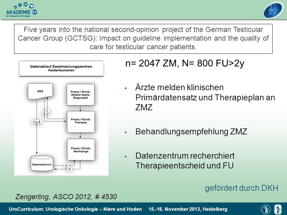 UroCurriculum: Urologische Onkologie – Niere und Hoden 15.-16. November 2013, Heidelberg Five years into the national second-opinion project of the Ge