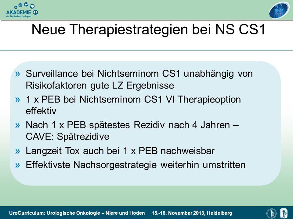UroCurriculum: Urologische Onkologie – Niere und Hoden 15.-16. November 2013, Heidelberg » Surveillance bei Nichtseminom CS1 unabhängig von Risikofakt