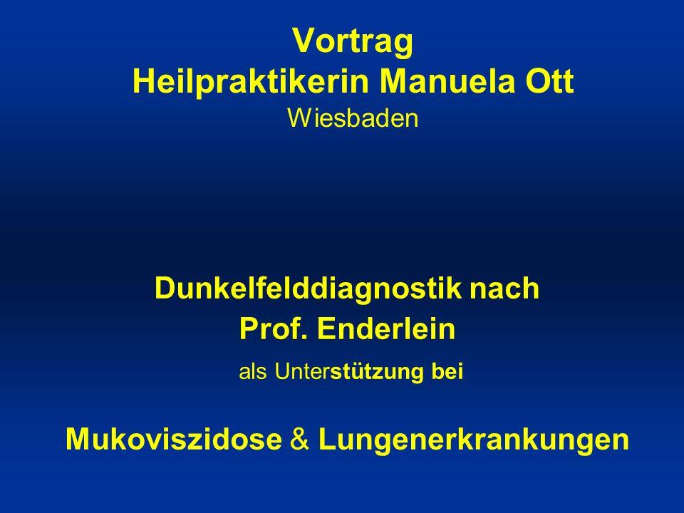 Vortrag Heilpraktikerin Manuela Ott Wiesbaden Dunkelfelddiagnostik nach Prof.