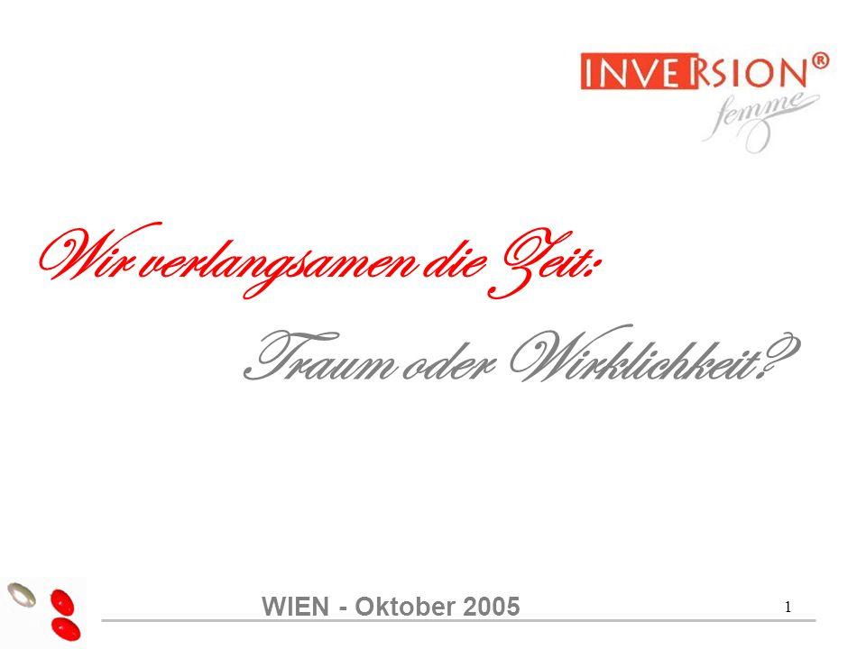 1 Wir verlangsamen die Zeit: Traum oder Wirklichkeit WIEN - Oktober 2005