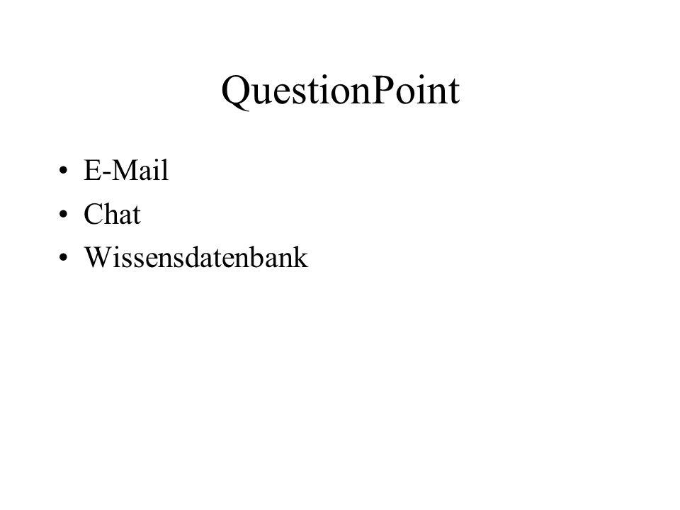 QuestionPoint E-Mail Chat Wissensdatenbank