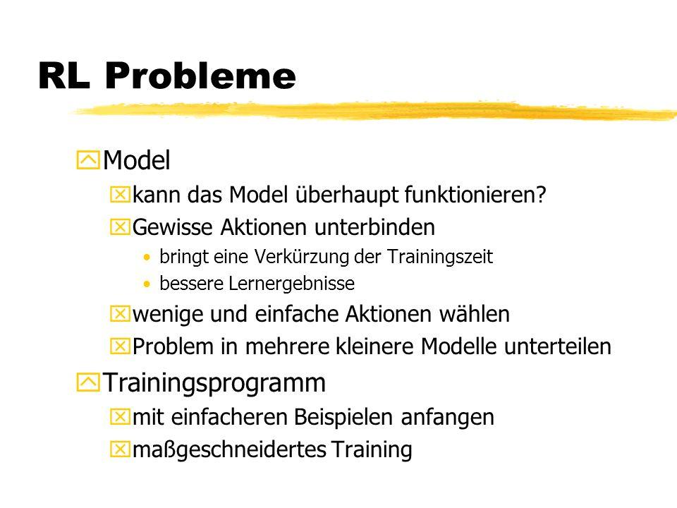 RL Probleme yModel xkann das Model überhaupt funktionieren.