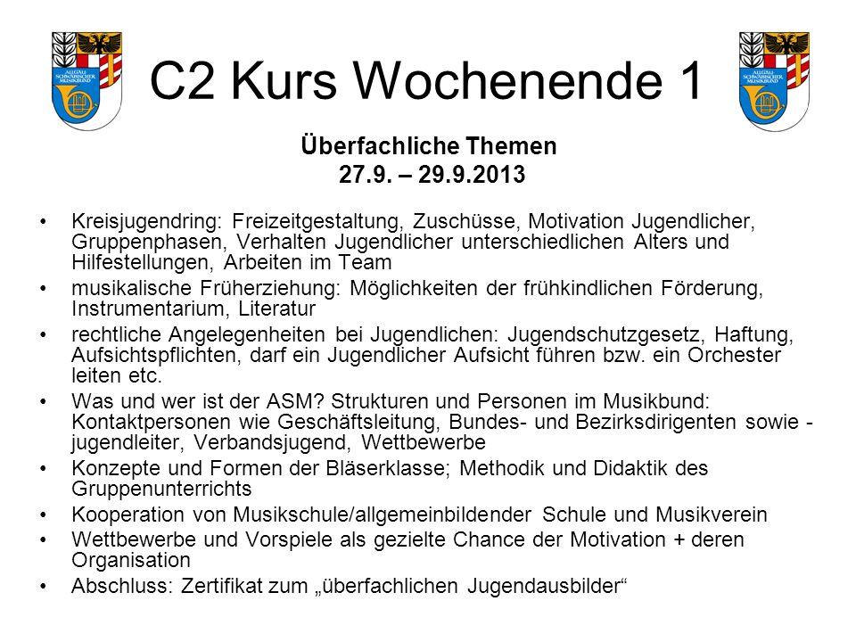 C2 Kurs Wochenende 1 Überfachliche Themen 27.9.