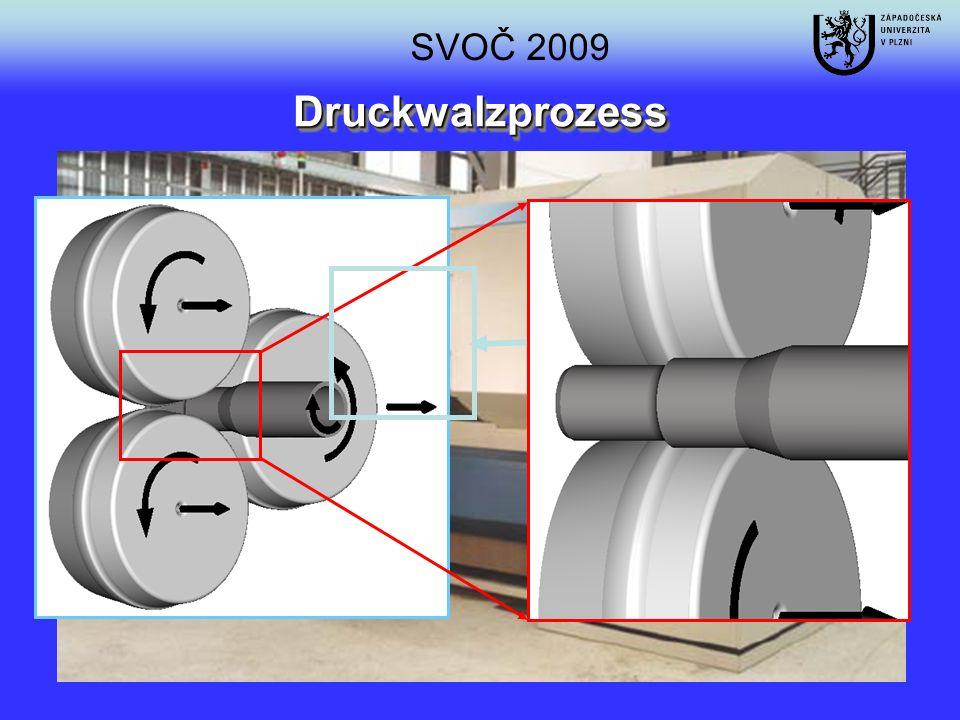 ElementCMnCrSiSP [%][%]0.161.21.00.40.03 Ausgangsgefüge im Oberflächengebiet im Axialschnitt Detail des Ausgangsgefüges in der Mitte des Rohres im Axialschnitt Ausgangshalbzeug 16MnCr5-Stahl 5,5 mm Ø 60 mm HV 0.2R m [MPa]R p02 [MPa]A 5mm [%] 23868768023 Mikrohärte und mechanische Eigenschaften SVOČ 2009
