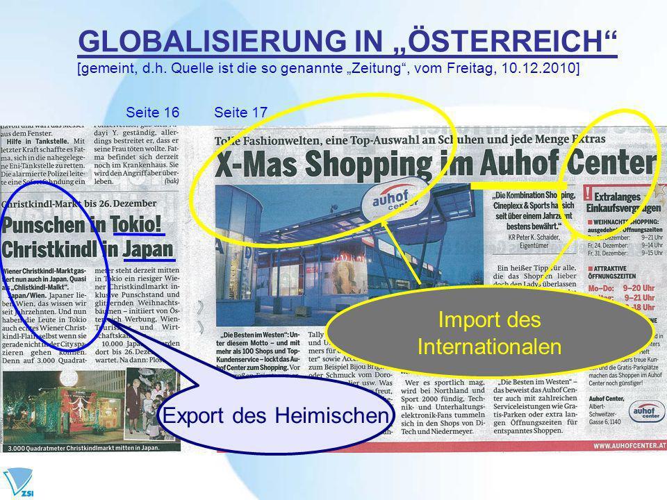 GLOBALISIERUNG IN ÖSTERREICH [gemeint, d.h.