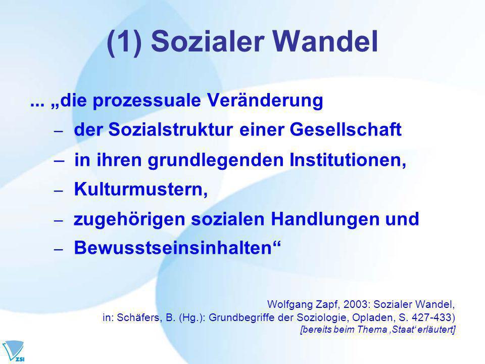 (1) Sozialer Wandel...