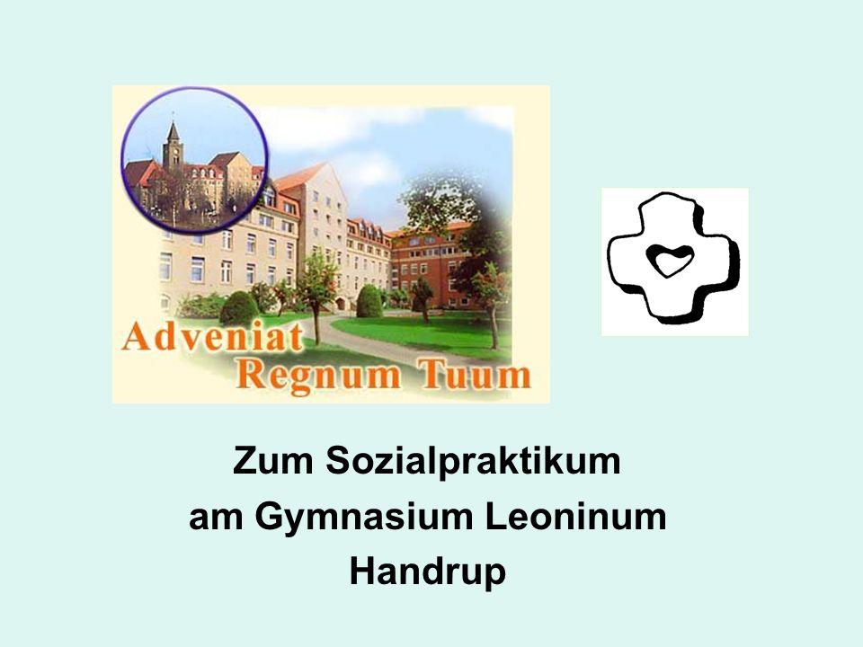 Zum Sozialpraktikum am Gymnasium Leoninum Handrup