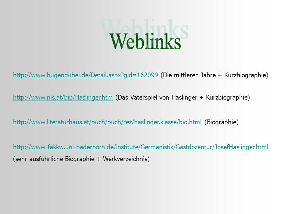 http://www.hugendubel.de/Detail.aspx?gid=162099http://www.hugendubel.de/Detail.aspx?gid=162099 (Die mittleren Jahre + Kurzbiographie) http://www.nls.a