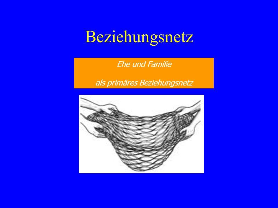 Beziehungsnetz Ehe und Familie als primäres Beziehungsnetz