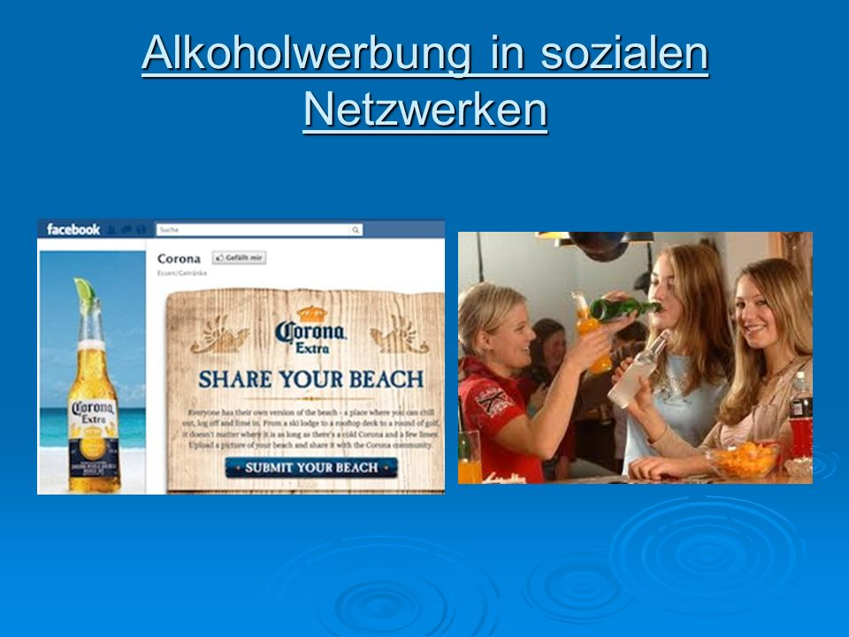Alkoholwerbung in sozialen Netzwerken