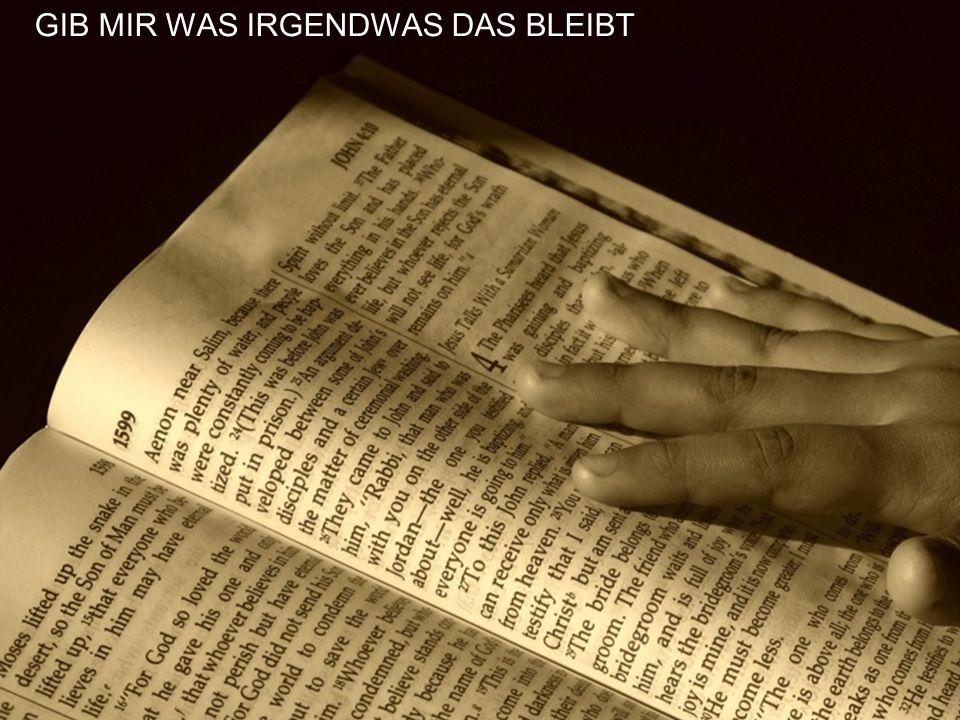 GIB MIR WAS IRGENDWAS DAS BLEIBT