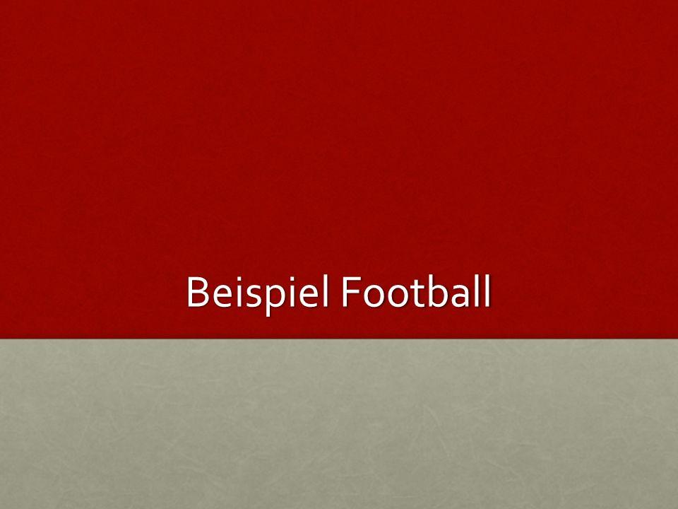 Angabe Ein Football wird mit einer Anfangsgeschwindigkeit von 7 m / s geworfen.