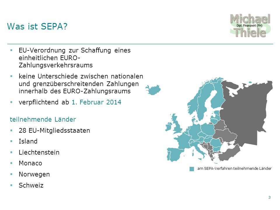 Private Vermögensberatung Agenda Was ist SEPA.