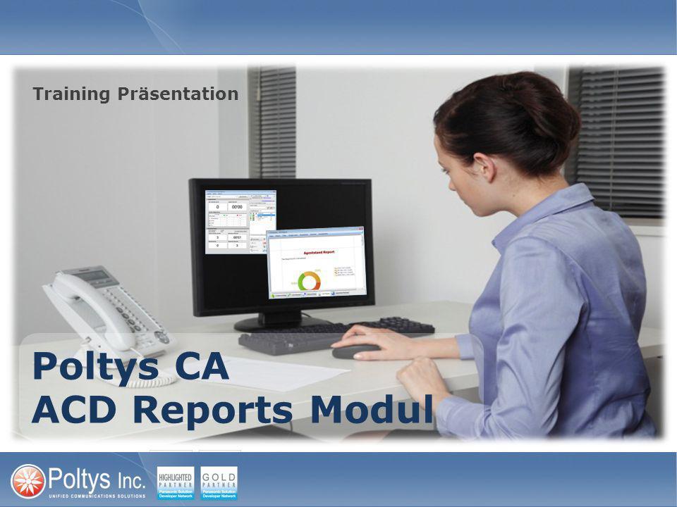 ACD Reports Module Filtern 2.Wählen Sie den Zeitraum nach dem die Daten gefiltert werden sollen 1.