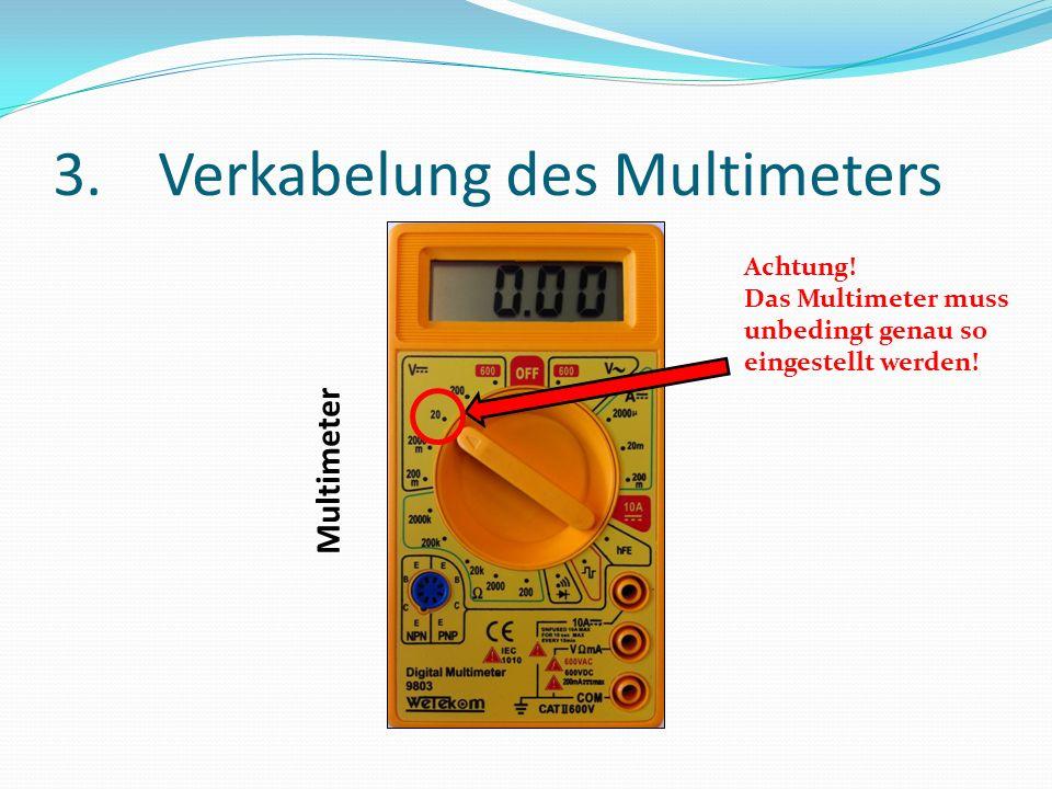 3.Verkabelung des Multimeters