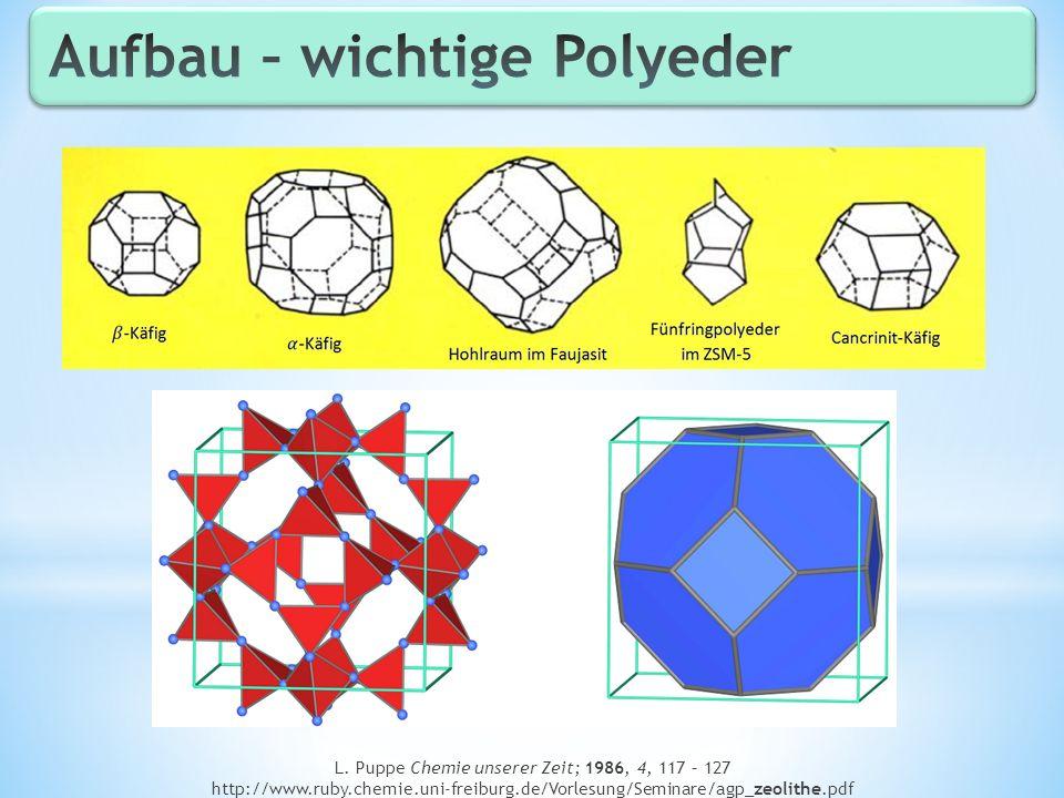 L. Puppe Chemie unserer Zeit; 1986, 4, 117 – 127 http://www.ruby.chemie.uni-freiburg.de/Vorlesung/Seminare/agp_zeolithe.pdf