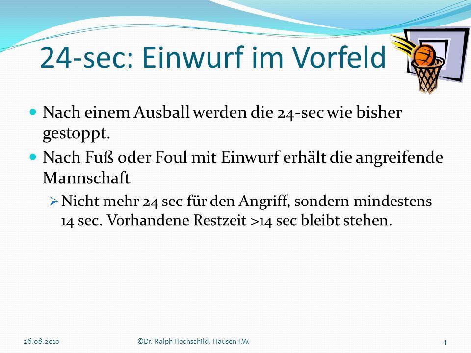 24-sec: Einwurf im Vorfeld 26.08.20105©Dr.Ralph Hochschild, Hausen i.W.