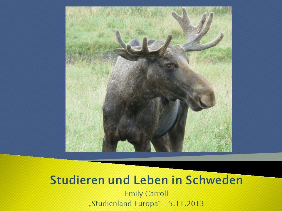 Studieren und Leben in Schweden Emily Carroll Studienland Europa – 5.11.2013