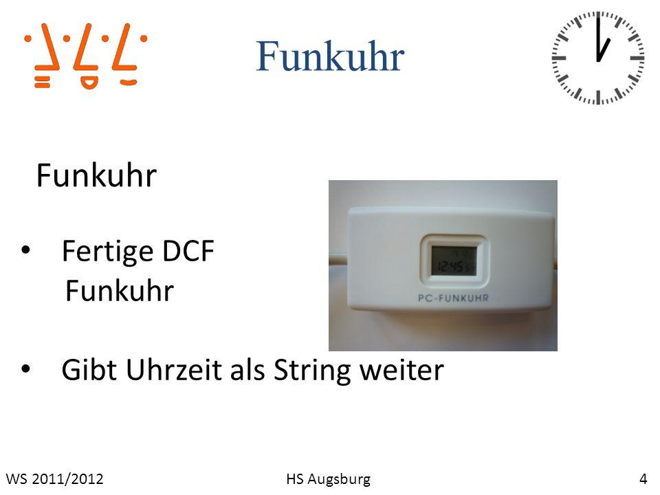 Termintreue 25WS 2011/2012HS Augsburg Versäumen des Projektstartzeitpunktes aufgrund von Kommunikationsproblemen Einhaltung der Folgetermine wurde durch konstruktive Mitarbeit der Teammitglieder gewährleistet