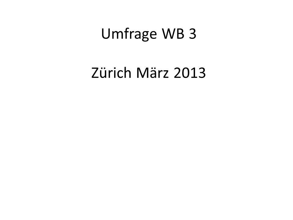 Umfrage WB 3 Zürich März 2013