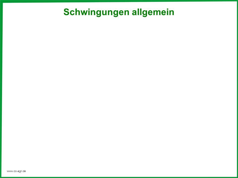 www.cc-agri.de Schwingungen allgemein