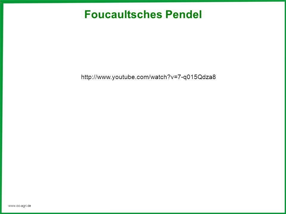 www.cc-agri.de Foucaultsches Pendel http://www.youtube.com/watch?v=7-q015Qdza8