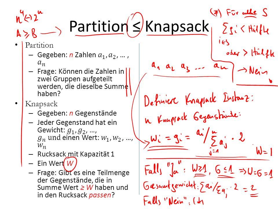 Partition Knapsack