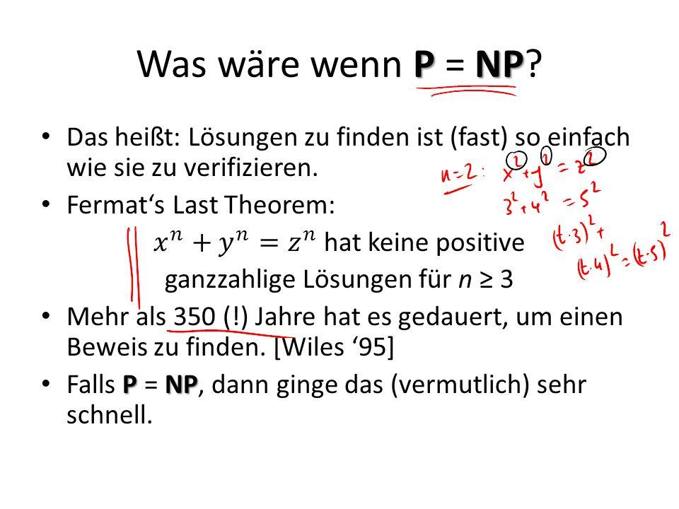 PNP Was wäre wenn P = NP?