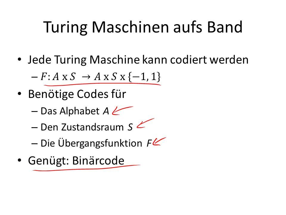 Turing Maschinen aufs Band