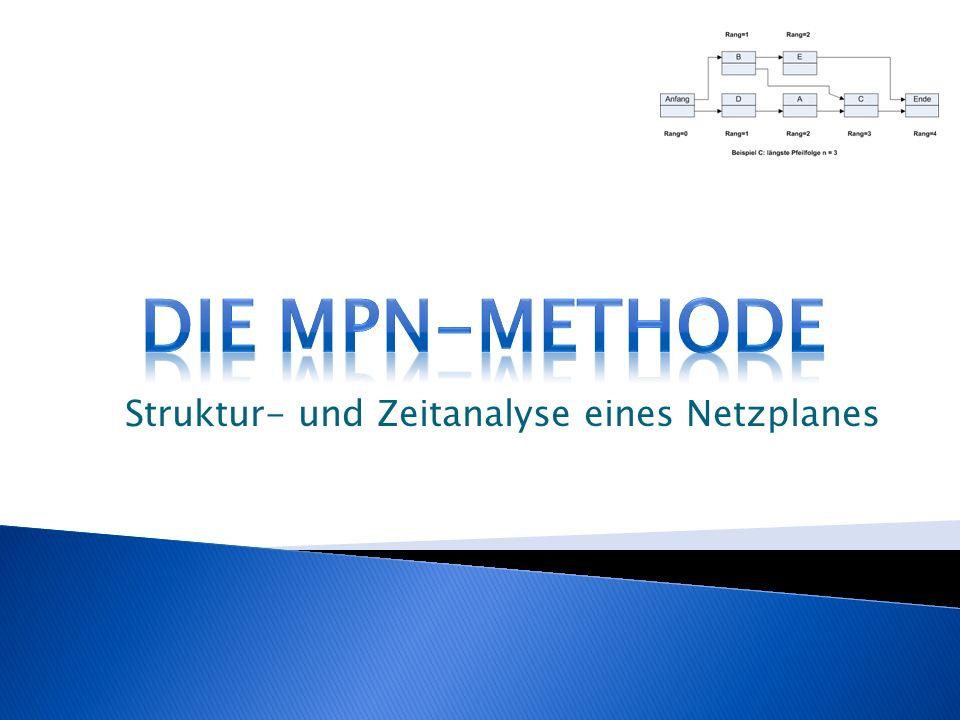 Struktur- und Zeitanalyse eines Netzplanes