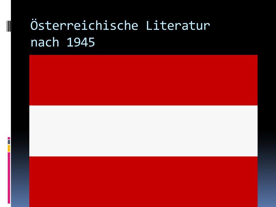 Österreichische Literatur nach 1945