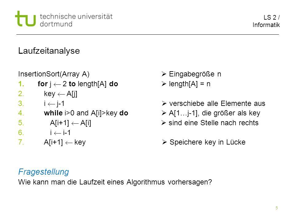 LS 2 / Informatik 26 Nullvektortest(Array A) Zeit 1.