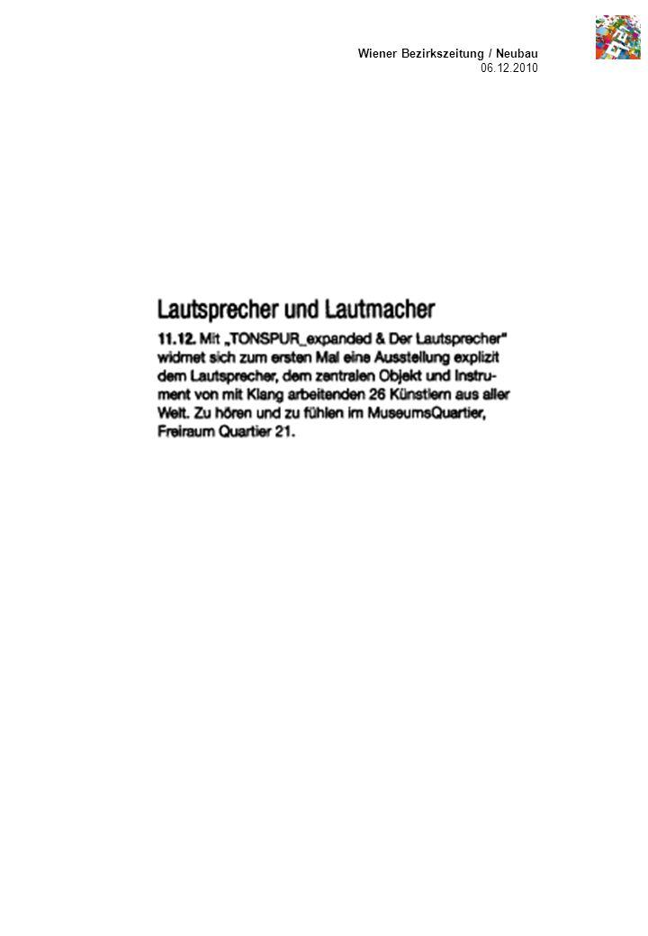 Wiener Bezirkszeitung / Neubau 06.12.2010