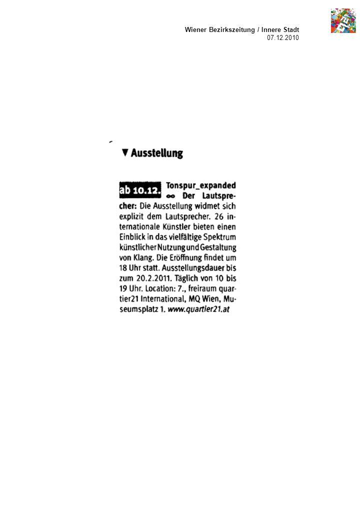 Wiener Bezirkszeitung / Innere Stadt 07.12.2010