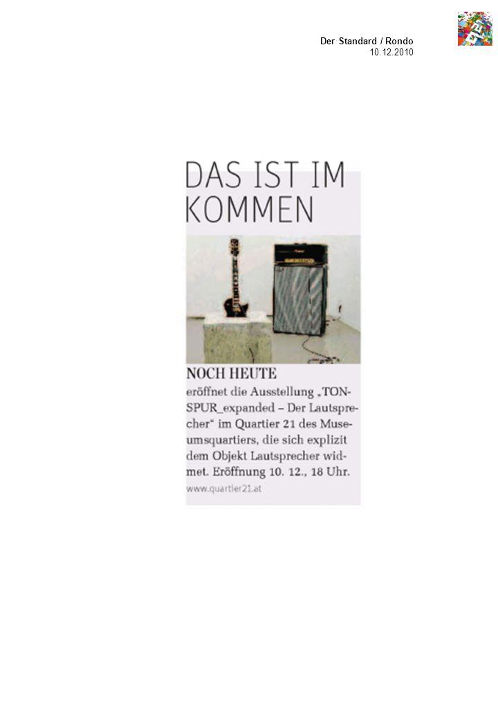Der Standard / Rondo 10.12.2010