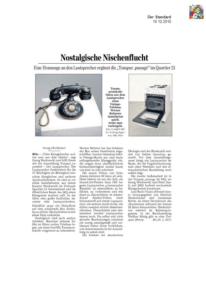 Der Standard 10.12.2010